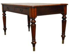 19th Century English Regency Walnut Writing Table