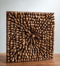Optic Teak Single Burst Wall Art - Wall Art & Hangings - Wall Décor - Home Accents They cut, shape, and place each teak wood segment to create a …Dedicated to inspiring your home and garden with beautifully-crafted, eco-friendly décor from around the Wood Panel Walls, Panel Wall Art, Hanging Wall Art, Wood Paneling, Wooden Wall Art, Wooden Walls, Cork Art, Wood Sculpture, Wall Sculptures