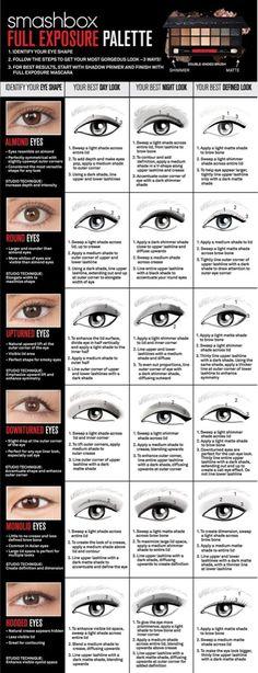 Eye makeup according to eye shape!