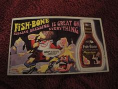 1969 TOPPS WACKY ADS # 35 FISH-BONE
