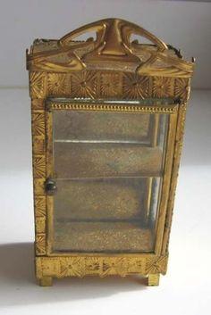 Antique-dollhouse-ormolu-Erhard-Sohne-miniature-Art-Deco-mirrored-cabinet