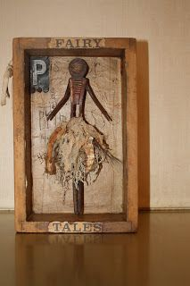 """"""" P is for Princess..."""" Collage, assemblage, FO Folk Art"""