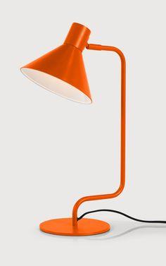 Truman Task Table Lamp in Burnt Orange. £35. MADE.COM