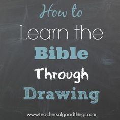 How to Learn the Bible Through Drawing - Children will love these easy to draw, Bible lessons that include learning how to use a timeline, as they draw through the Bible. Perfect for preschool through middle school with different levels of difficulty. A great homeschool curriculum. | www.teachersofgoodthings.com