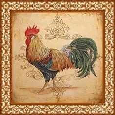 Renaissance Rooster-a Painting  - Renaissance Rooster-a Fine Art Print