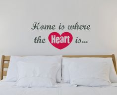 Brewster Home Fashions Euro Home Is Were The Heart Is Wall Quote Decals | Wayfair