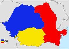 Romania split into 3 areas of equal population Turkic Languages, Semitic Languages, Indian Language, German Language, Eurasian Steppe, Golden Horde, Dna Genealogy, Blue Green Eyes, Sumerian