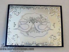Filigree Frame - Silver on Silver www.lauraleestamps.com