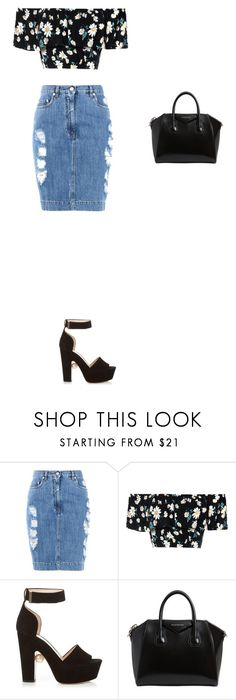 """""""Untitled #131"""" by dyniesha ❤ liked on Polyvore featuring Moschino, Glamorous, Nicholas Kirkwood and Givenchy"""