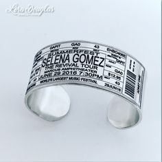 Selena Gomez Concert Ticket Cuff #selenagomez #therevivaltour #selenagomezfans  #summerfest #Jewelry #handmadejewelry #concert #maker #accessories #style #handmade #music #etsy #etsyusa #etsyseller #etsyjewelry #concertticket #forsale #fashion