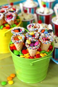 Ice cream cone smartie sprinkle treats