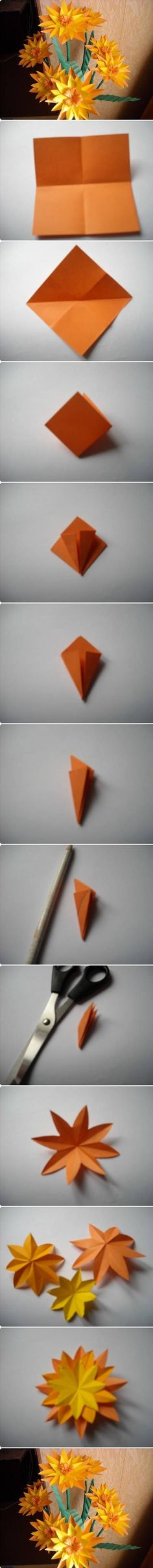 DIY Paper Marigold Flower flowers diy crafts home made easy crafts craft idea crafts ideas diy ideas diy crafts diy idea do it yourself diy projects diy craft handmade how to tutorial Paper Flowers Diy, Handmade Flowers, Flower Crafts, Fabric Flowers, Flower Diy, Origami Paper Art, Diy Paper, Paper Crafting, Quilling