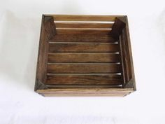 Reclaimed Wooden Storage Crate by phyllissexton on Etsy. $10.00, via Etsy.