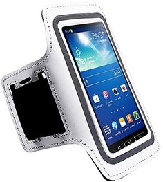 """myLife white, Black and Gray {Rain Resistant Velcro Secure Running Armband} Dual-Fit with Key Slot Jogging Arm Strap Holder for Samsung Galaxy S4 Active i9295 and i537 """"All Ports Accessible"""" myLife Brand Products http://www.amazon.com/dp/B00UB23SGU/ref=cm_sw_r_pi_dp_hiAhvb1VCQSZ2"""