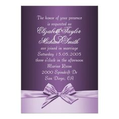 DealsLuxury Purple Elegant Ribbon Wedding Invite Cardsso please read the important details before your purchasing anyway here is the best buy