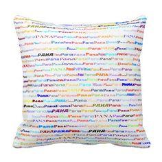 Pana Text Design II Throw Pillow