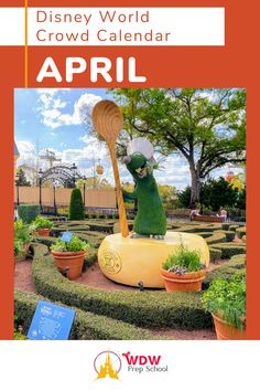 Planning to visit Disney World in April? Check out our FREE April Crowd Calendar for help finding the least crowded parks for each day of your trip. Disney Calendar, Disney World Crowd Calendar, Walt Disney World, Prep School, Disney Planning, Time Of The Year, Disney Trips, Parks, Check