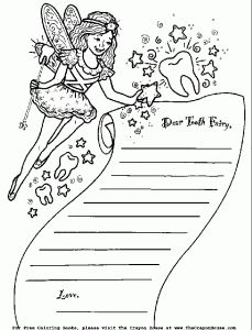 tooth fairy writing template - dear tooth fairy writing paper letter dental health