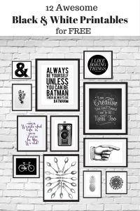 12 Free Black and White Printables great for using in your gallery wall. Curated by Calm & Collected.