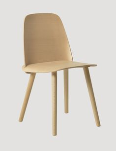 The NERD chair is a modern Nordic take on the iconic all-wood chair that effortlessly reflects its classic Scandinavian design heritage. The seamless integration of the NERD's back and seat is a unique feature providing both enhanced comfort and an inviting personal look. Crafted with the highest quality materials, the NERD chair provided the winning design for the Muuto Talent Awards 2011.