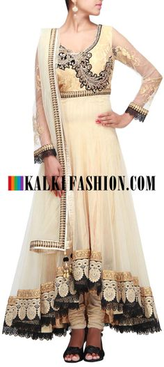 Buy Online from the link below. We ship worldwide (Free Shipping over US$100) http://www.kalkifashion.com/beige-anarkali-suit-featuring-with-embroidered-bodice-in-zardosi-only-on-kalki.html Beige anarkali suit featuring with embroidered bodice in zardosi only on Kalki