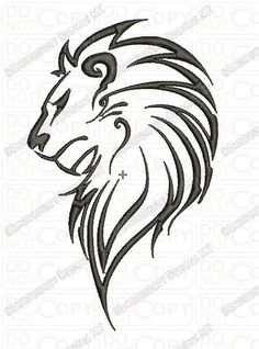 Lion tattoo drawings in pencil · lion outline tribal embroidery design in and sizes lion lion Leo Tattoos, Body Art Tattoos, Small Tattoos, Tatoos, Outline Drawings, Animal Drawings, Tattoo Drawings, Tatoo Henna, Tatoo Art