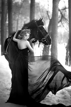 Skye, perhaps? Though she'd never wear an evening gown to ride in.