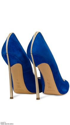 Don't be intimidated by the vibrancy, you'd be surprised how well this color can really tie in a chic white blazer look! Stilettos, Pumps, Zapatos Shoes, Shoes Heels, Blue Heels, Shoe Boots, Shoe Bag, All About Shoes, Dream Shoes