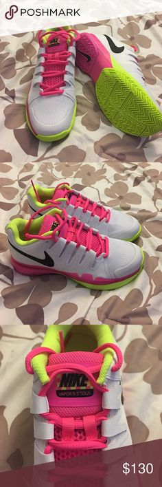 Brand new Nike zoom vapor 9.5 tour Brand new Nike 2016 Women's Zoom Vapor 9.5 Tour Running Shoes White/Pink/Volt ... Nike Shoes Athletic Shoes