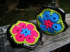 African Flower Coin Purses