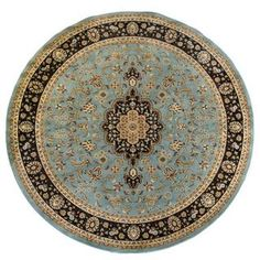 Shop for Light Blue Traditional Medallion Area Rug Plush Pile (7'10 Round). Get free shipping at Overstock.com - Your Online Home Decor Outlet Store! Get 5% in rewards with Club O!