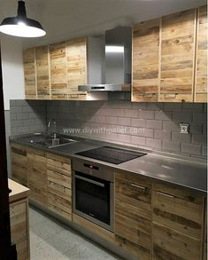 Dark, light, oak, maple, cherry cabinetry and light wood kitchen cabinets with white appliances. CHECK THE PIC for Lots of Wood Kitchen Cabinets. Wood Pallet Furniture, Furniture Projects, Furniture Plans, Wood Pallets, Diy Furniture, Furniture Stores, Kitchen Furniture, Rustic Furniture, Furniture Design
