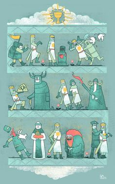 Picture summary of Monty Python and the Holy Grail.