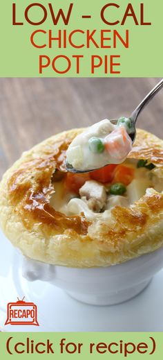 Need to try this recipe from Aaron McCargo, Jr, aka The Food Networks Big Daddy This chicken pot pie is a great, healthy meal for kids and low in calories and fat