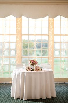 Detail of sweetheart table | Ashley Gerrity Photography | Whitemarsh Country Club, Lafayette Hill Wedding