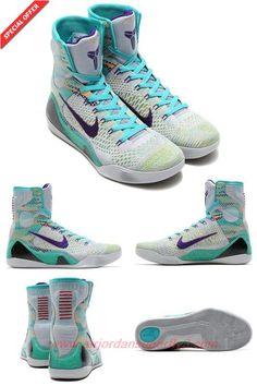 Wolf Grey / Movement Sapphire Nike Kobe 9 elite 641714-005 \u0026quot;Hero ...