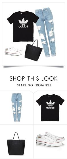 """""""sport look"""" by babymermaidx ❤ liked on Polyvore featuring Topshop, adidas Originals, Converse, sport and poland"""