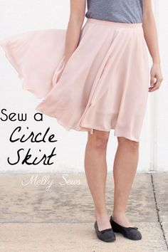 Learn how to sew a circle skirt in any size! Full video and written tutorial for a DIY circle skirt.