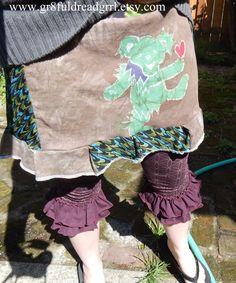 Grateful Dead Batik Bear Mini T Skirt Tie Dye by gr8fuldreadgrrl