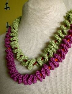 Two Crocheted Spiral necklaces