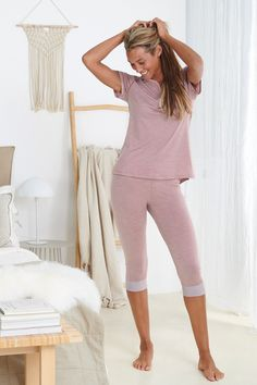 Sleep better with Dagsmejan's sleep enhancing pajamas Most Comfortable Pajamas, Cotton Pjs, Best Pajamas, Fibre And Fabric, Sleep Better, Swedish Design, Sleep Shirt, Sleepwear Women, Dusty Pink
