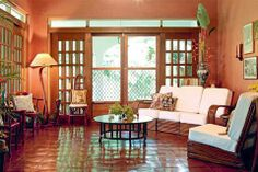 Pinoy Eclectic Style: House of Hand-me-downs and Memories Filipino Architecture, Architecture Design, Filipino Interior Design, Future House, Old Style House, Filipino House, Bamboo House Design, Philippine Houses, Modern Bungalow House