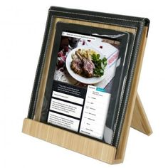 Handy tablet stand. Great for following recipes in the kitchen! Pin & win! We're giving away 10.