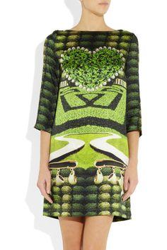Mary Katrantzou|Printed silk dress|NET-A-PORTER.COM