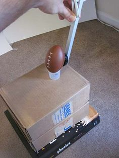 "What variables make or break a field goal kicker's chances of success? In the ""Field Goal! The Science Behind a Perfect Football Kick"" #science project, students use a rubber band catapult kit and a toy football and experiment to see if success rate varies with distance. [Source: Science Buddies, http://www.sciencebuddies.org/science-fair-projects/project_ideas/Sports_p059.shtml?from=Pinterest] #STEM #scienceproject #TWC #ConnectAMillionMinds"