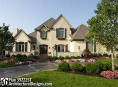 4 Bedrooms House Plan with Classic Exterior - 39222ST | European, French Country, Traditional, Luxury, Photo Gallery, Premium Collection, 1st Floor Master Suite, Butler Walk-in Pantry, CAD Available, Den-Office-Library-Study, Media-Game-Home Theater, PDF, Corner Lot | Architectural Designs