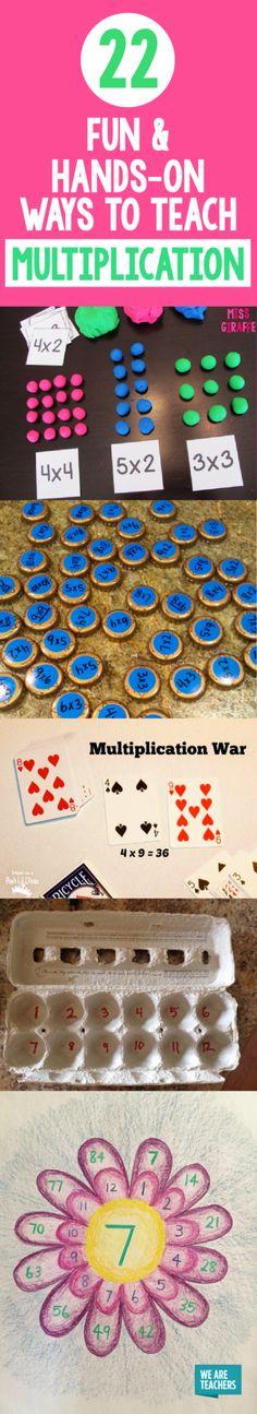 22 Fun, Hands-On Ways to Teach Multiplication - WeAreTeachers