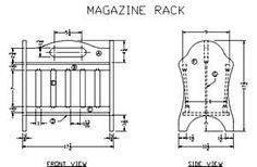 Wood Magazine rack plan