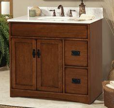 Sunny Wood Mission Oak Vanity Collection www. Mission Oak, Bath Cabinets, Pinterest Board, Kitchen And Bath, Vanity, Wood, Collection, Bathroom Vanity Cabinets, Dressing Tables