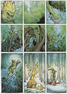 Page #6. Arzaq short story by Moebius and William Stout. 1996